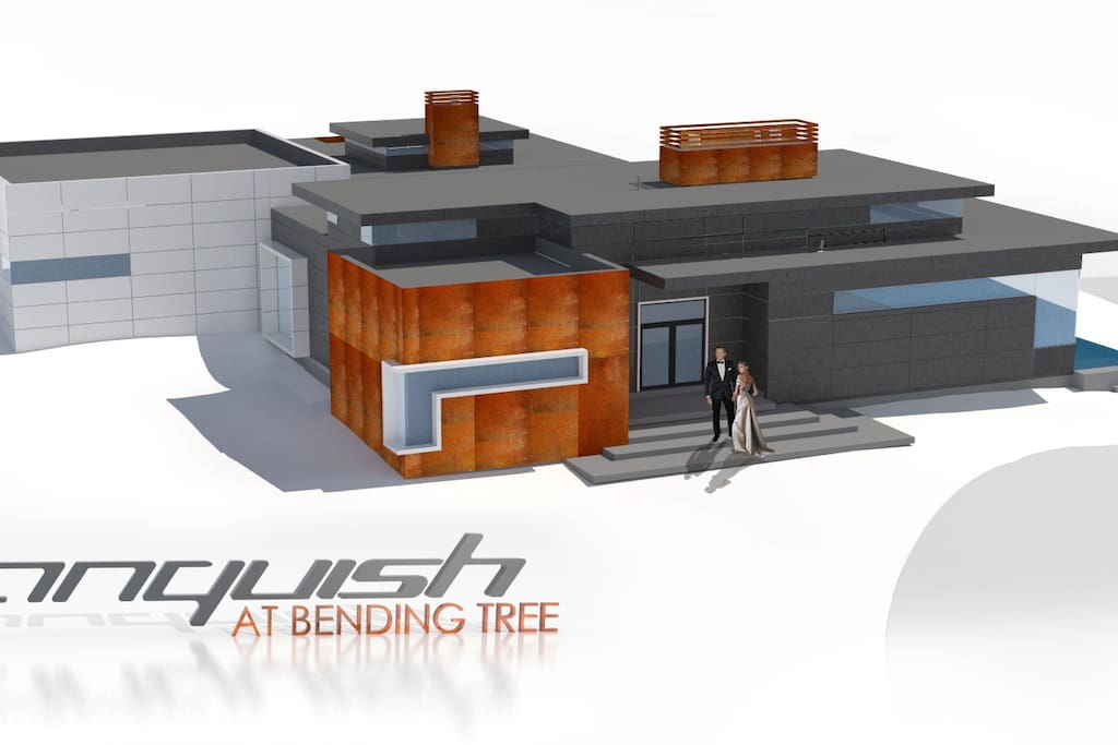 Rendering of the home from its early design