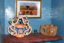 décoration chaleureuse de style mexicain dans la salle