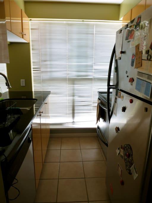Compact kitchen.