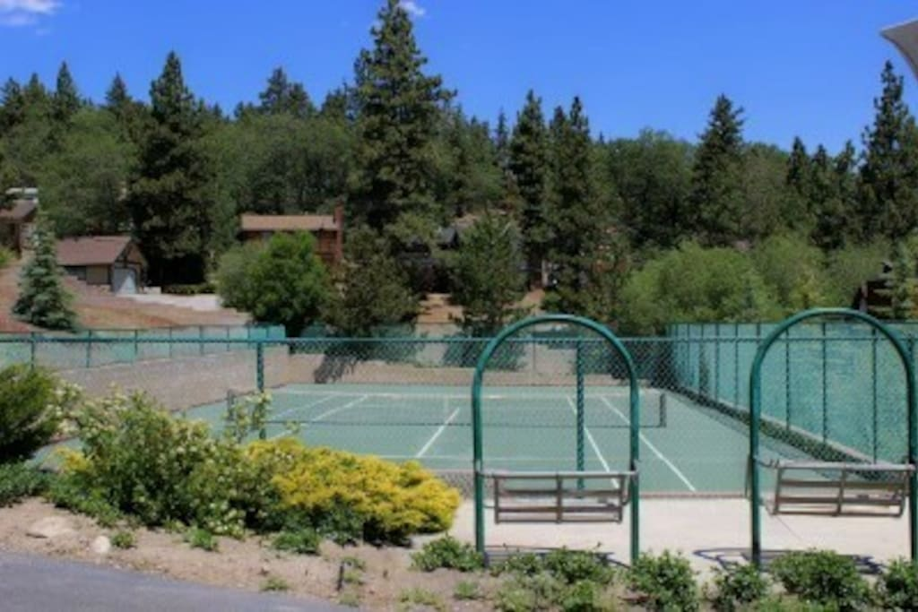 Newly renovated community tennis court and sport court