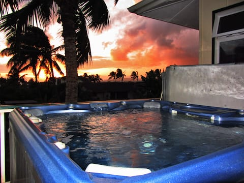 Ocean Views Hot Tub Air Cond. Walk To Poipu Beach