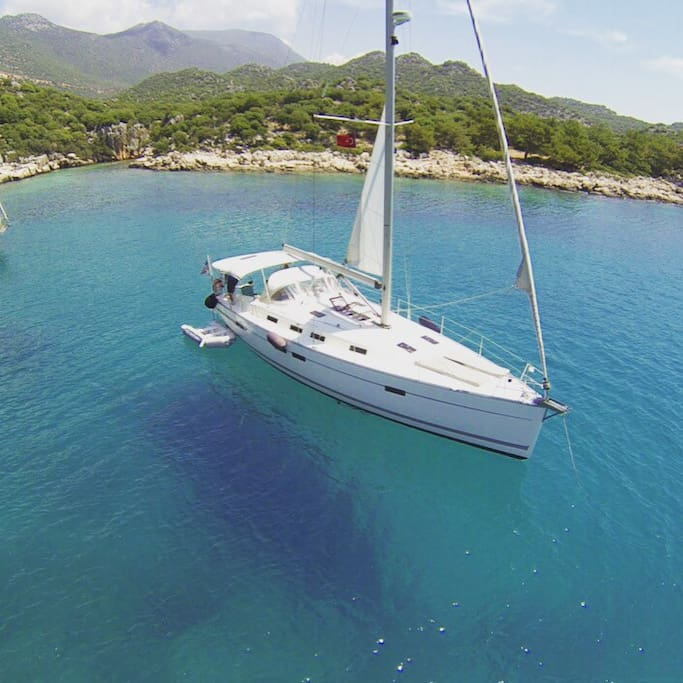 Sailing Yacht photo with drone