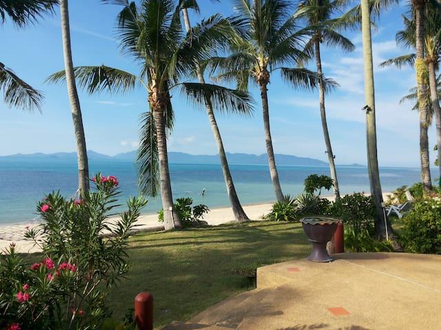 Beach-front Thai style Villa .(D3)