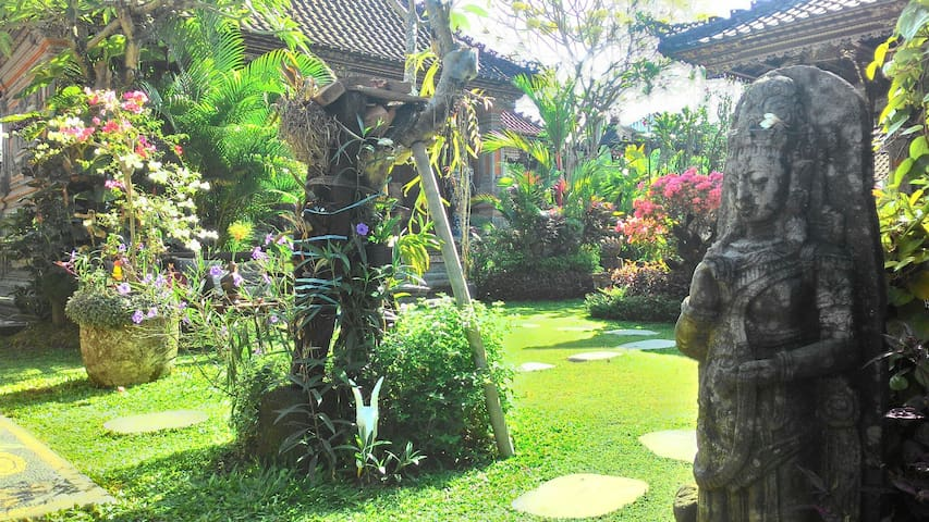 Balinese Architecture House with Green Garden