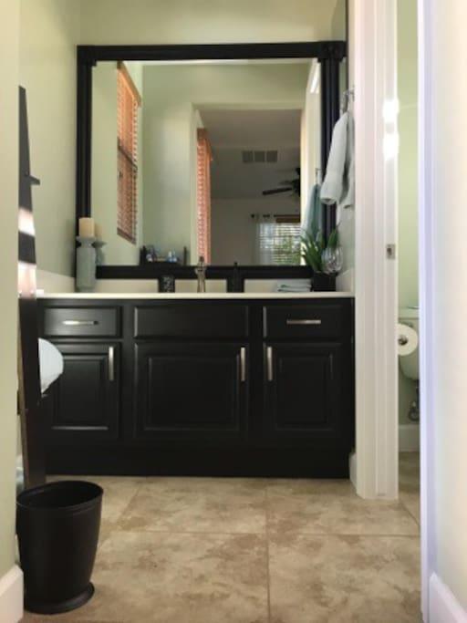 Sink & vanity area.