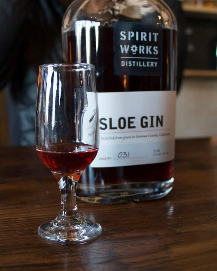 Sloe Gin at Spirit Works Distillery