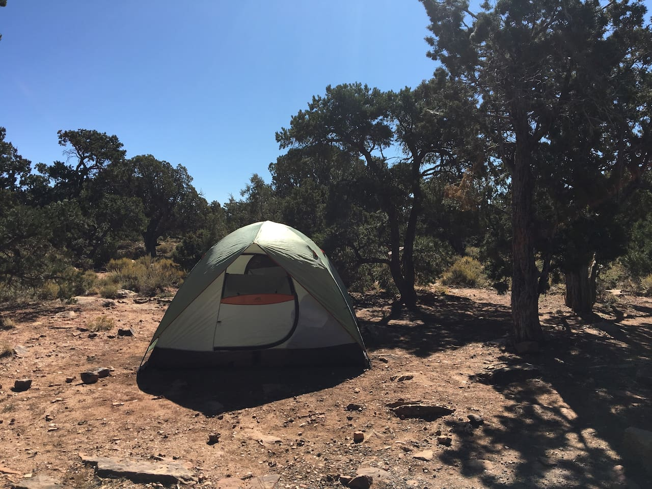 Typical Grand Canyon campsite surroundings