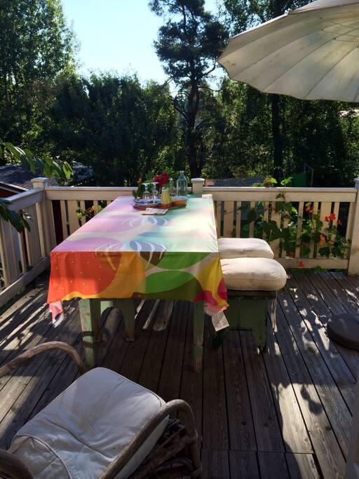 Summer terrace.