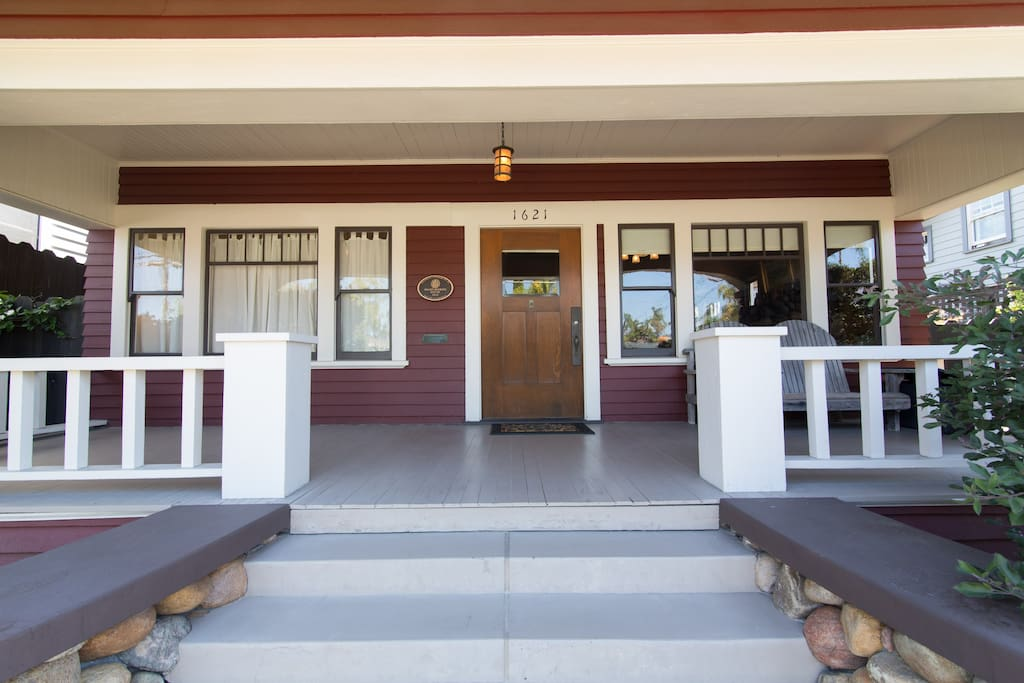 Expansive front porch welcomes you