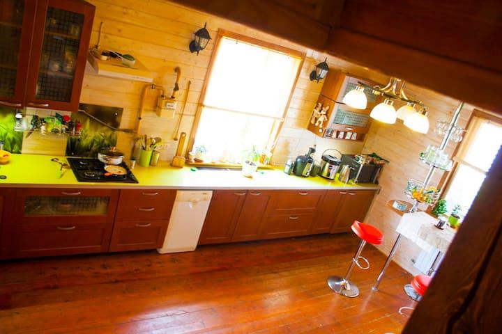 Комфортабельный дом с баней на дровах - Флора-2 Снт - Rumah