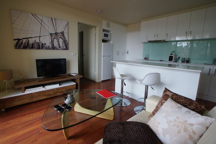 8 min drive to city. Walk to Woden. 1 bedroom apt - Lyons - Departamento