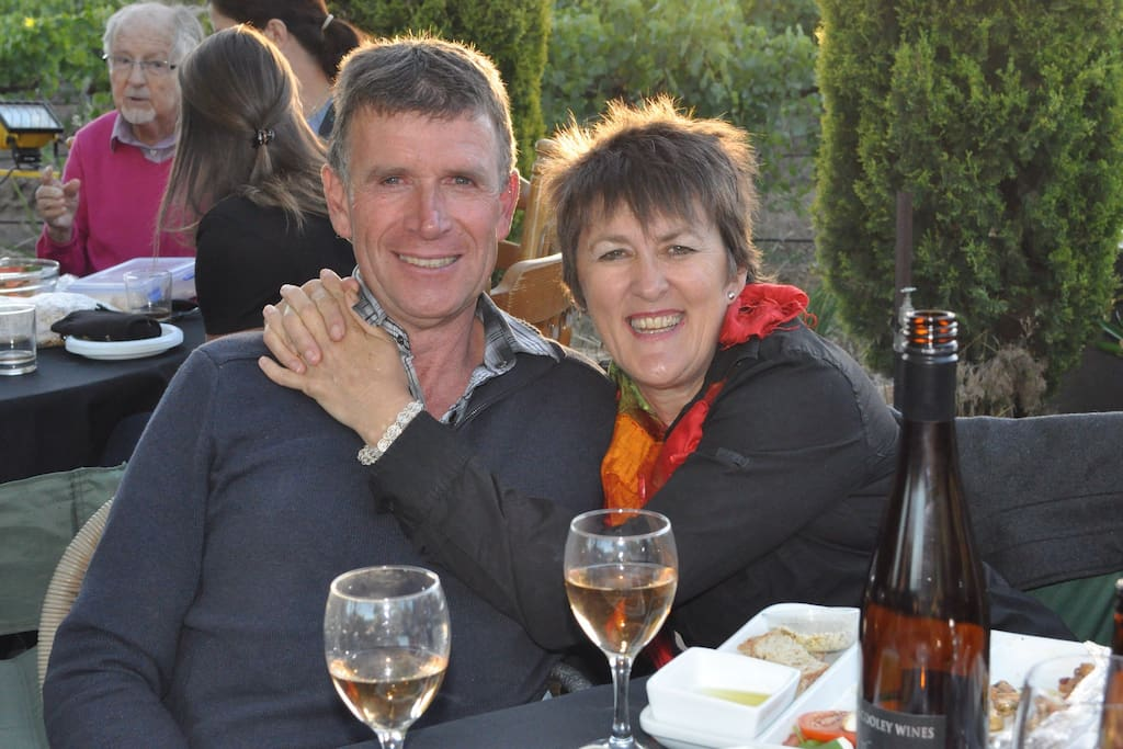 We, Glen and Cindy, would be very happy to welcome you to the Clare Valley.
