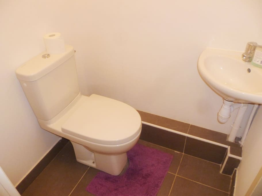 toilettes récentes et propre