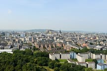 A panoramic of Edinburgh from Arthur's Seat
