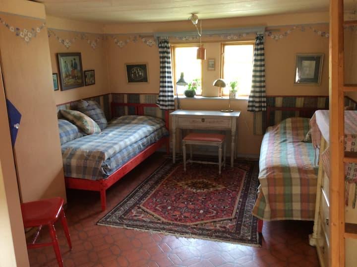 Gästrummet i Kaptensgården Skanör