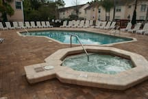 Hot Tub adjacent to Heated Pool