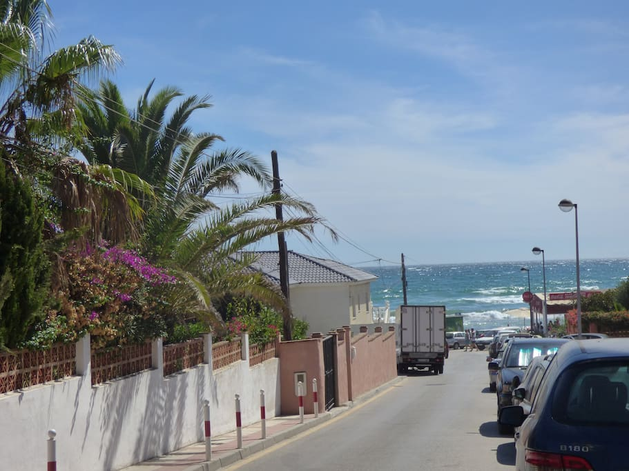 Beach view from townhouse entrance