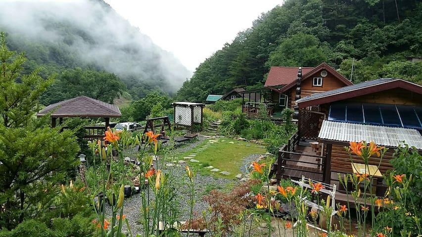 정선통나무집(4인기준~최대6인/건강방)