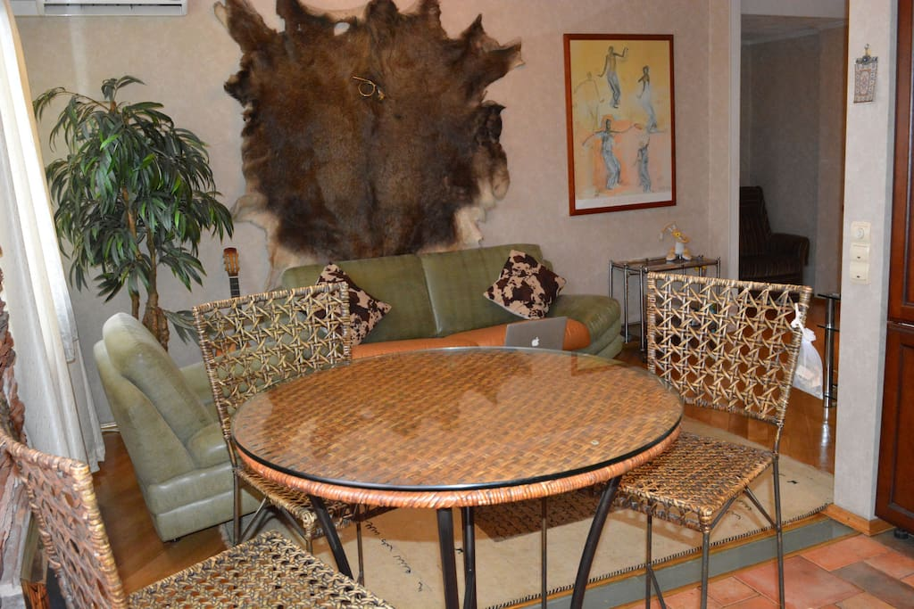 Family room and dinig table
