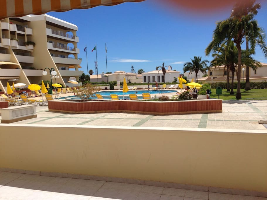Terrace view, with direct access to the swimming pool.