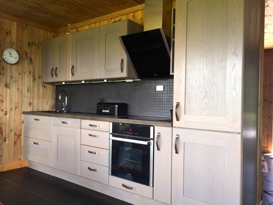 Kitchen made by local carpenter