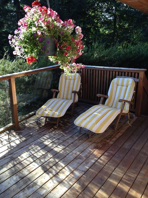 Relax in comfort on your deck. BBQ available for your use.