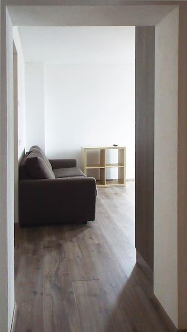 Visuale dall'entrata dell'appartamento