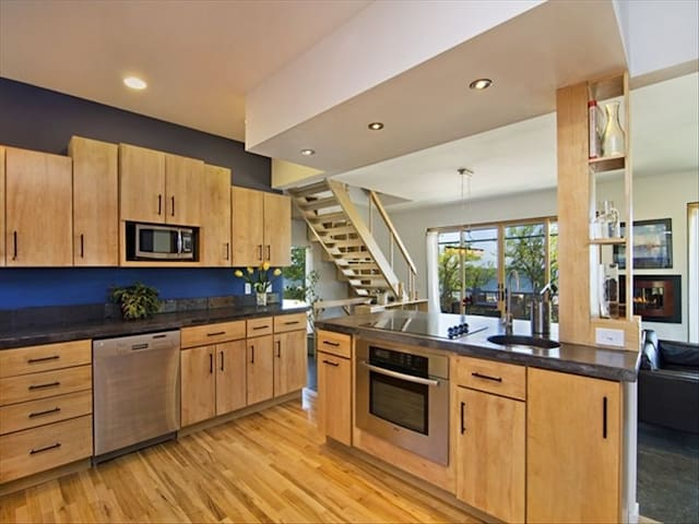 Large, open kitchen perfect for making large family meals