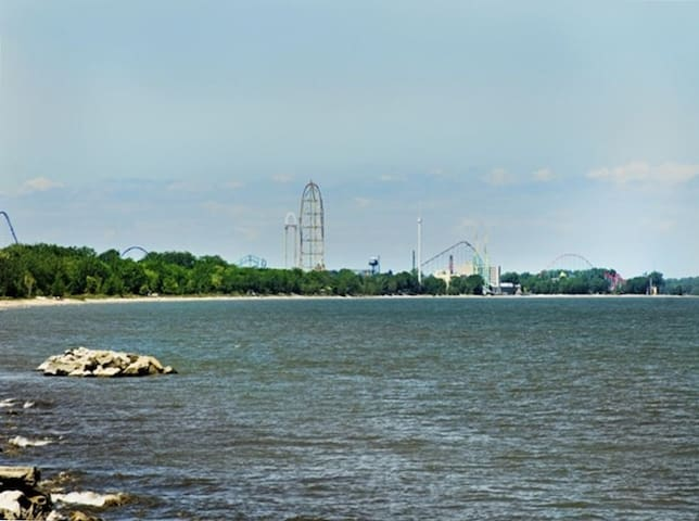 Located on Cedar Point Penninsula just a few miles down the road from Cedar Point
