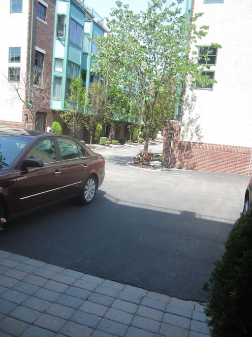 Two parking spots outside front door