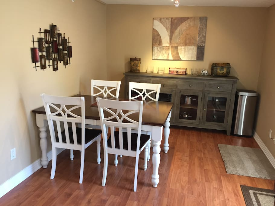 Dining room and buffet area