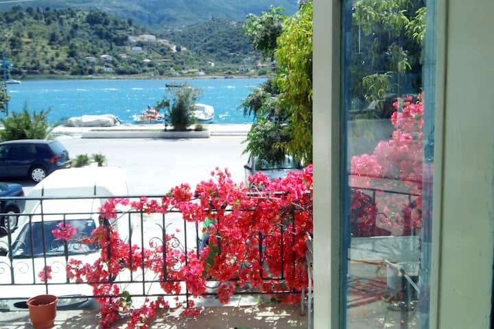Enchanting waterfront apartment with veranda