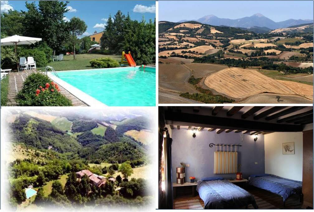 Ca Piero ist: großer Pool, Panoramasicht, stilvolle Zimmer und Natur pur.