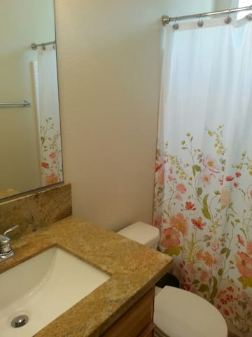 Private bathroom for guests..