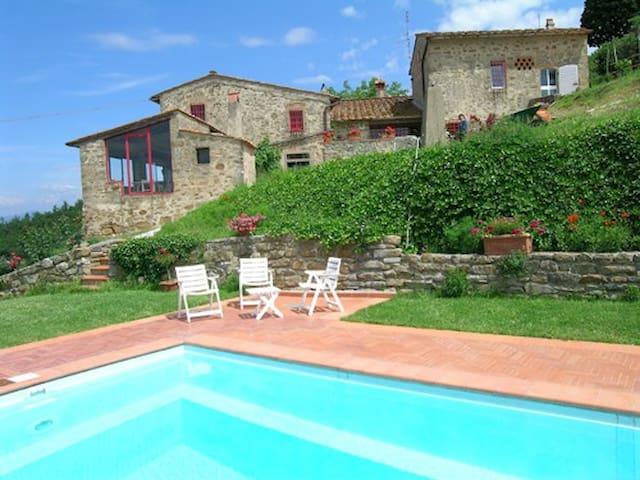 Casa Vallecchio : panorama sul Chianti e Firenze