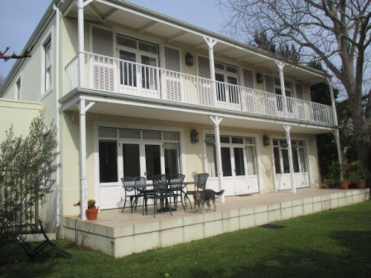 Indoor outdoor living on front deck