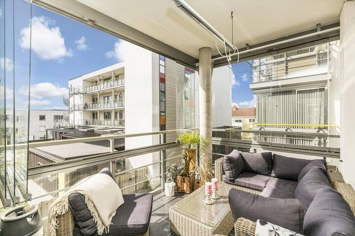 Fully equipped, modern apt. w/parking - Trondheim - Daire
