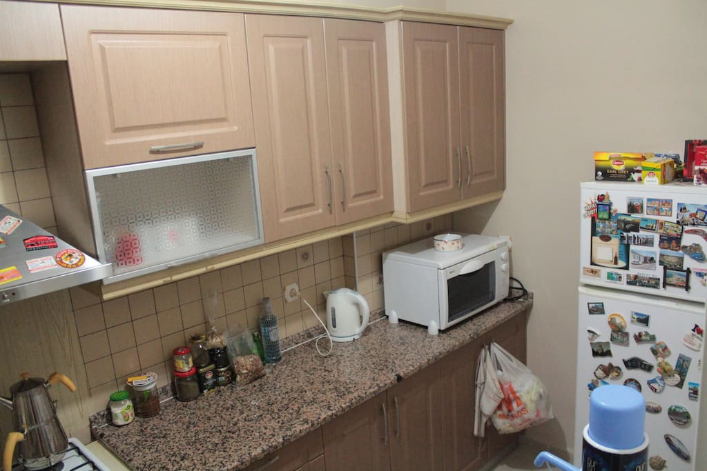 Kitchen with all equipments.
