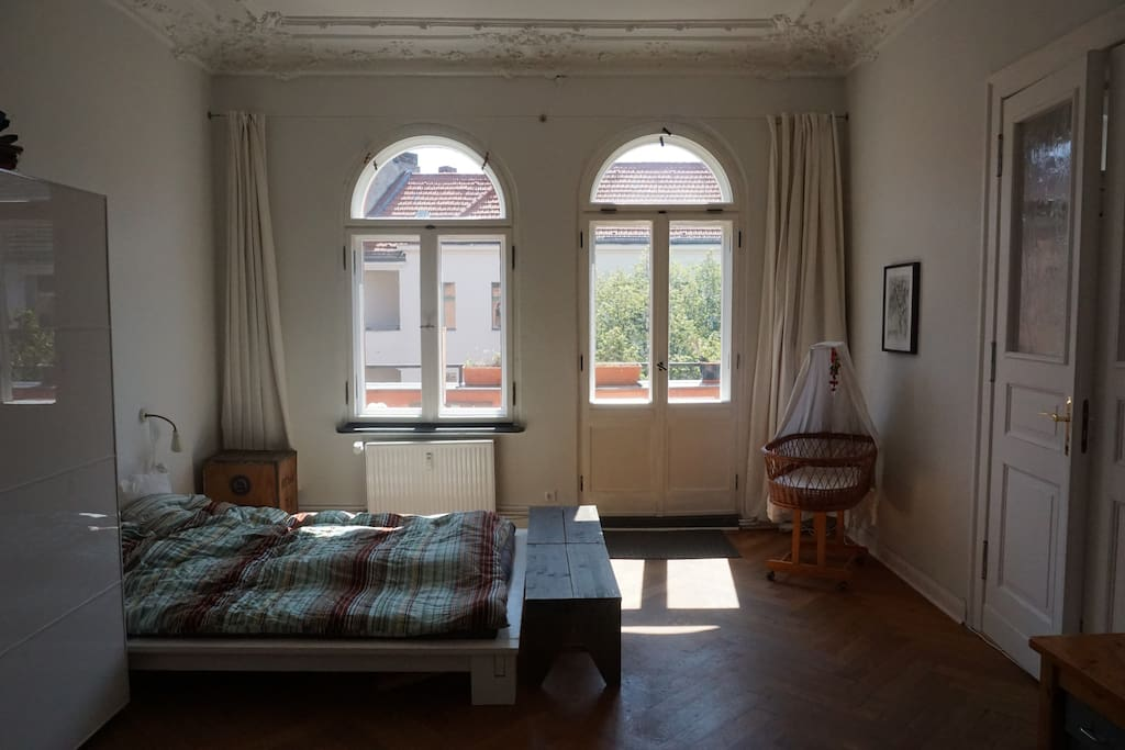 bed room 1 with balcony