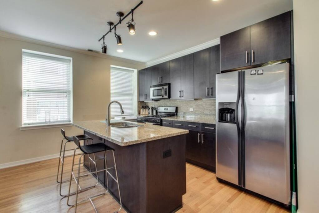 Modern kitchen with all amenities. Free coffee too!