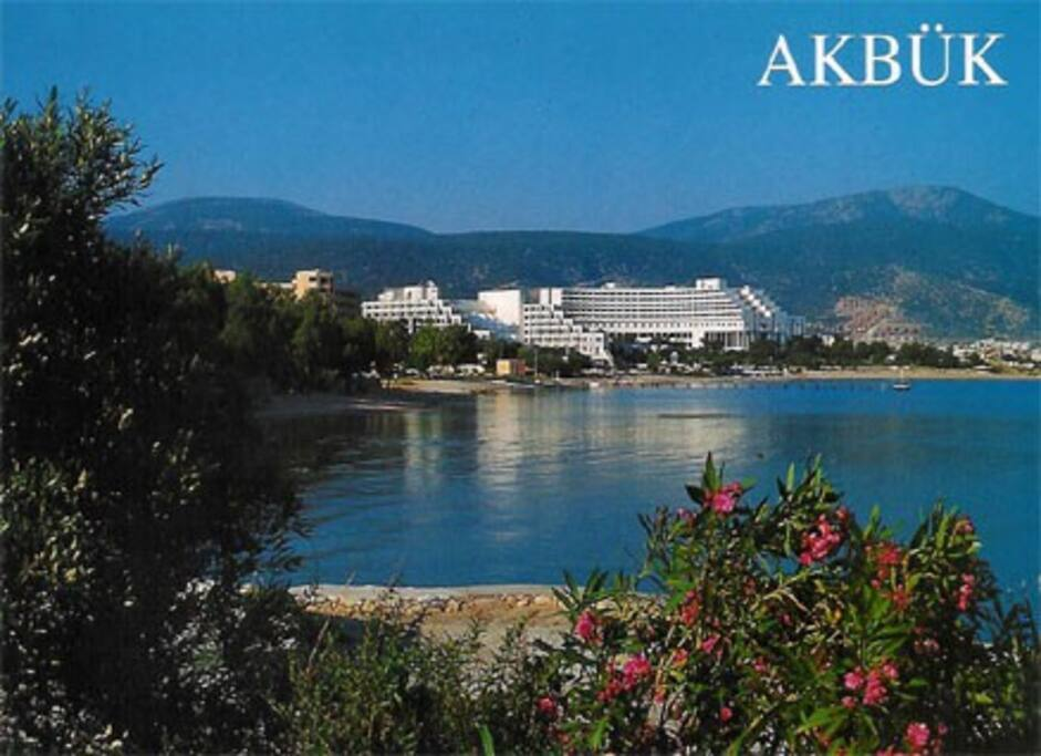 Akbuk Bay ; see and mountain view