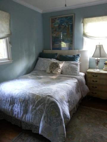 A pleasant bedroom, full-size bed. - McLean