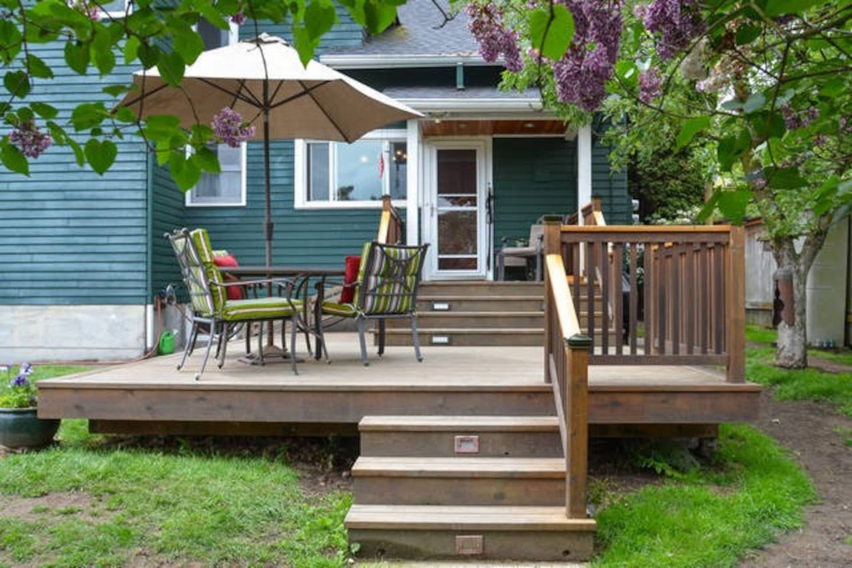 Large back porch