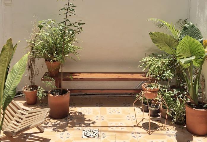 Cozy apartment w/ patio in la Roma!