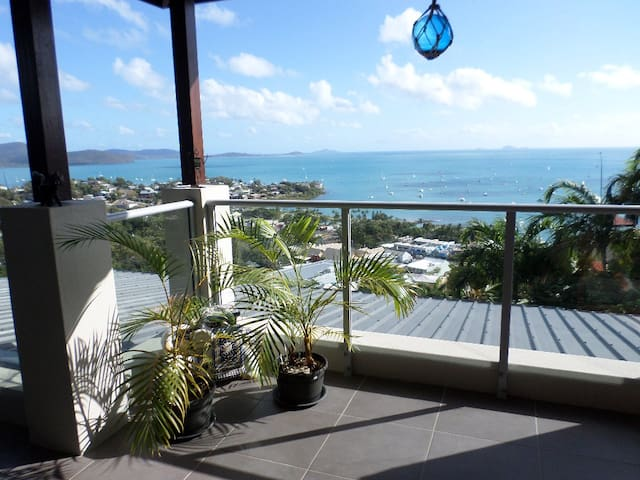 Looking over Airlie Beach and Islands