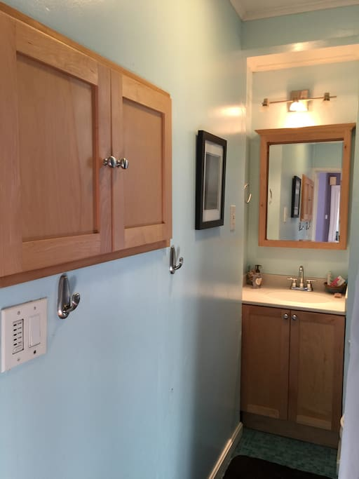 Guests have private bathroom on 2nd floor adjacent to guest room and study.