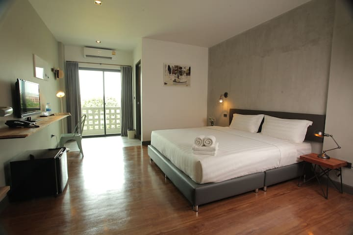 Double bed room @Space59 Hotel Ratchaburi