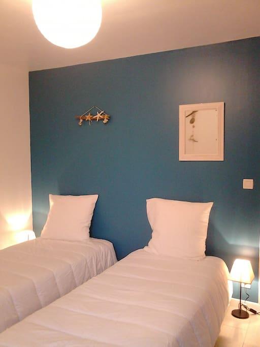 chambre 2 lits avec dressing