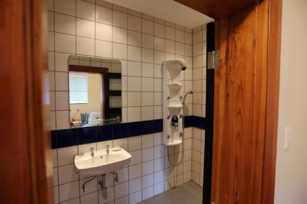 Ensuite clean bathrooms at the Biolodge