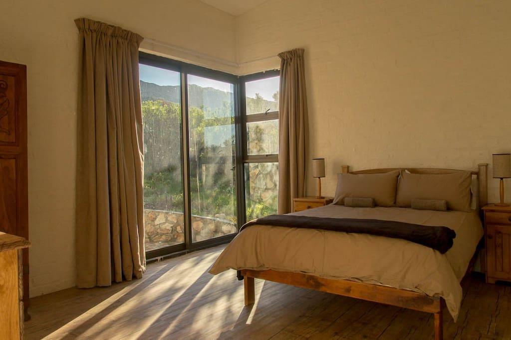 Morning light coming into Master bedroom